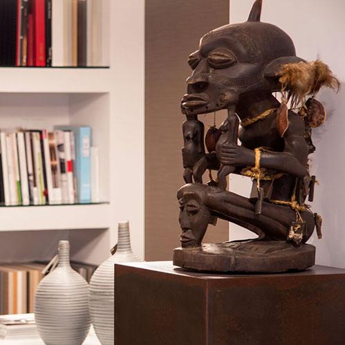 Escultura africana para decorar en Bilbao