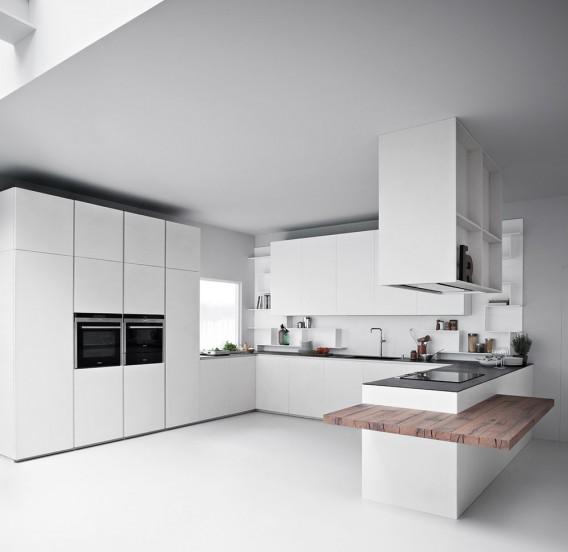 Cocina de diseño italiano minimalista en Bilbao