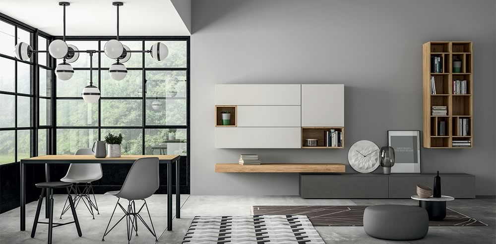 Salón de diseño italiano minimalista en Bilbao