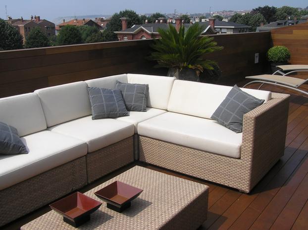 Decoración de terraza en zugazarte Bilbao
