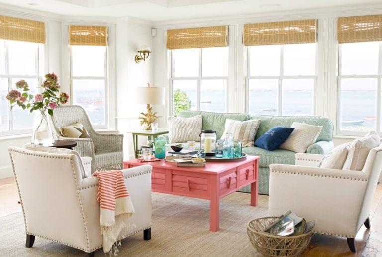 Muebles en Living Coral