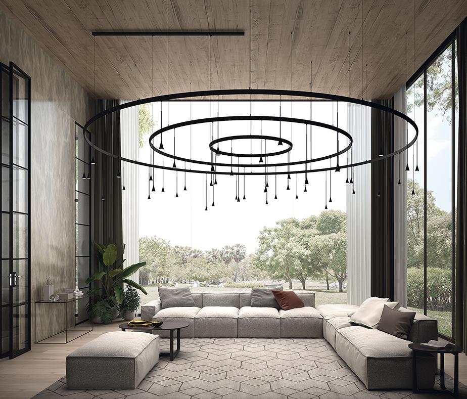 lámparas de gran formato Bover