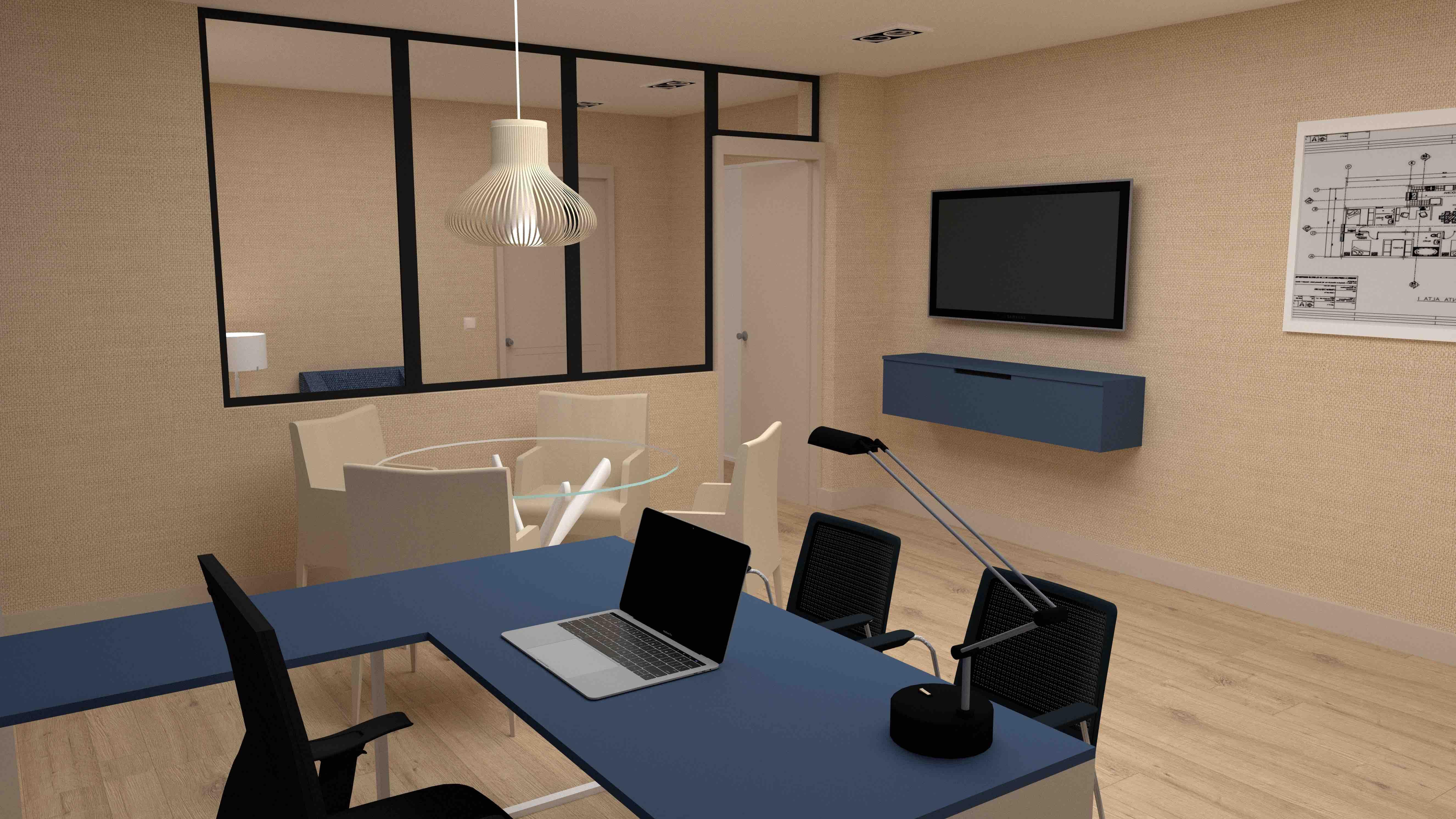 Proyecto de oficina en 3D